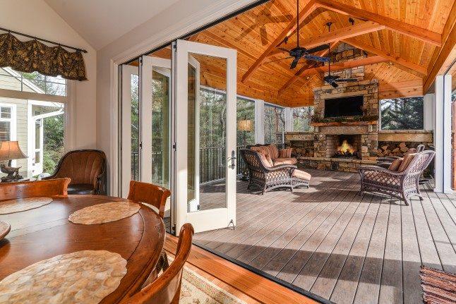 Asheville luxury homes indoor/outdoor living