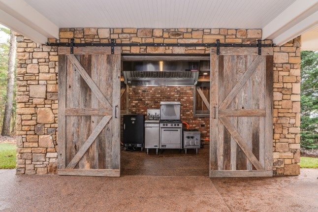 Asheville luxury homes commercial outdoor kitchen