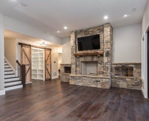 custom homes in asheville nc_basement remodel