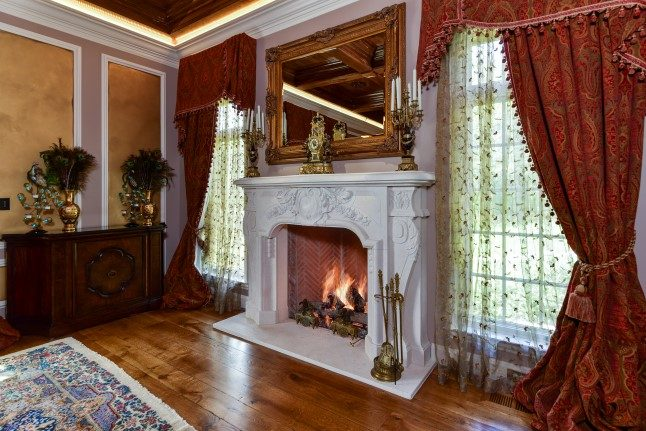 Asheville luxury homes fireplace
