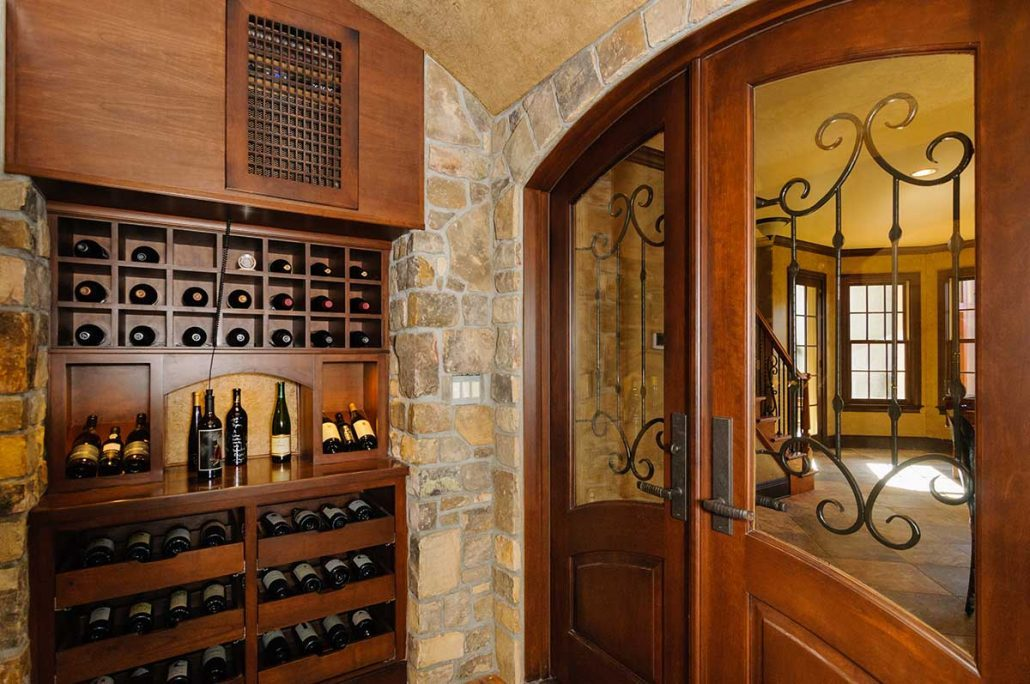 Asheville luxury homes wine cellar_contractors in asheville