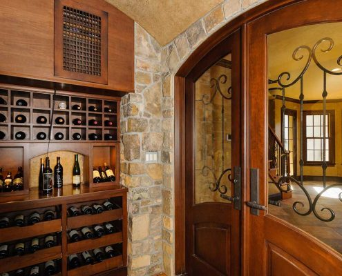 Asheville luxury homes wine cellar_contractors in asheville