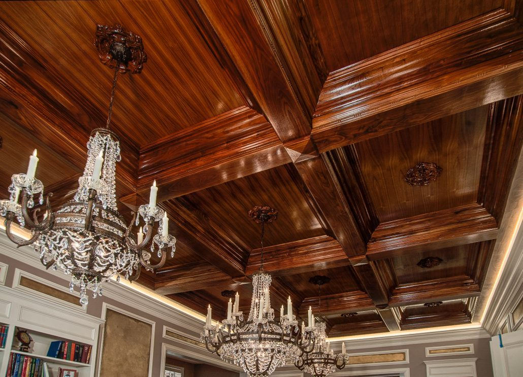 ASheville builders_coffered ceilings_Asheville custom homes