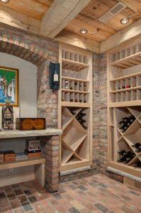 NC Custom Home Builders Wine Cellar_nc custom homes