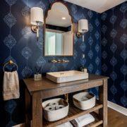 blue powder room_asheville builders