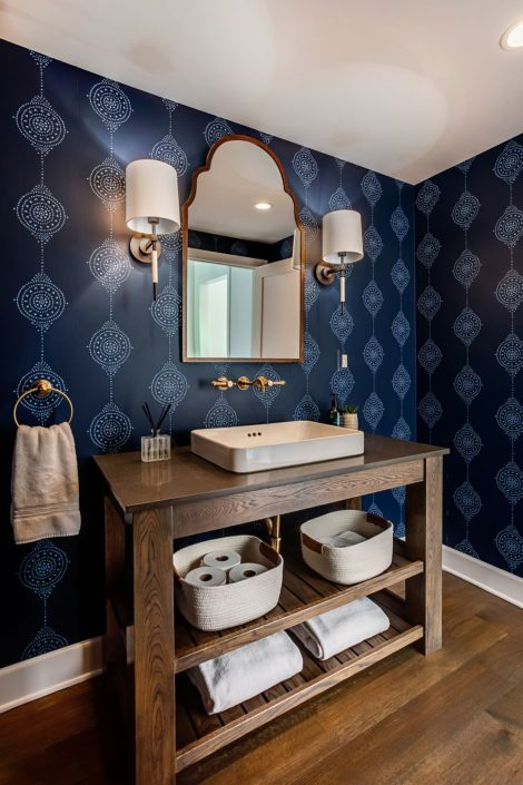 blue powder room_asheville builders