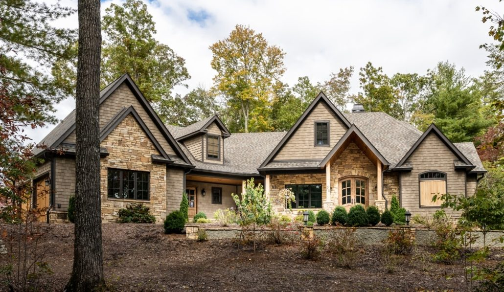 exterior elevation mountain home_Judd Builders asheville